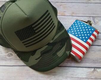 Camo American Hat