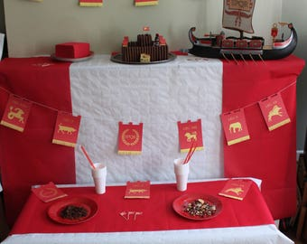 Roman themed kids birthday Kit
