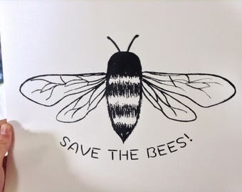 Save The Bees Screen Print!