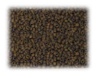 11/0 Copper Metallic Matte Glass Seed Beads, 1 oz. Bag