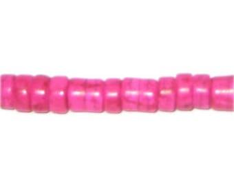 "8mm Fuchsia Heishi Beads - 3.25"" string"