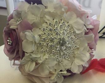 Purple Rhinestone Bouquet