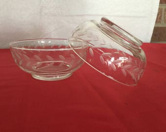 Vintage  Anchor hocking clear crystal  bowls