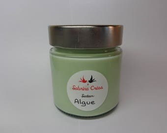 Vegetable soy wax scented candle seaweed.