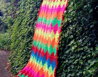 Bedspread, picnic rug, beach towel, blanket, living blanket, plaid or large (wall). Crochet