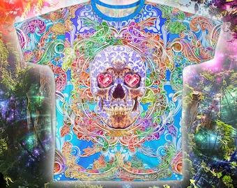 Men's T-shirt - Psychedelic / Pastel / Rainbow Sugar Skull