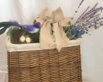 French Country Lavender Basket