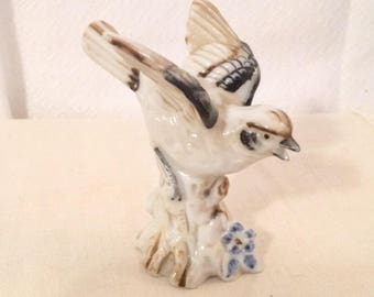 Brown and Black Bird Figurine