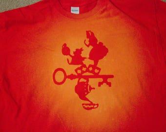 Alice in Wonderland   Disney   Bleached T-Shirt