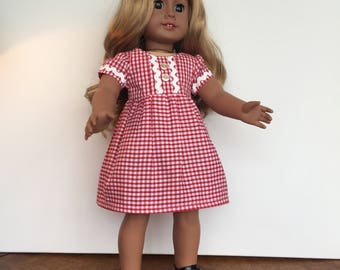 """18"""" Doll school dress and  shoes esigned to fit Our Generation American Girl Journey Girl Design a Friend"""