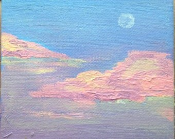 Acrylic Painting,  Dream Clouds
