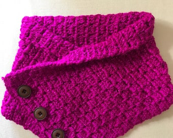 A bright fuschia sparkly scarf for your kid..