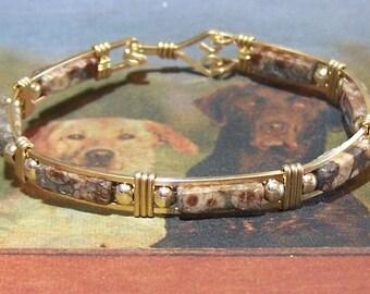 Turtle Jasper and Gold Fill Bracelet