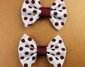 Think Happy Dots - Small Bow Hair Clips