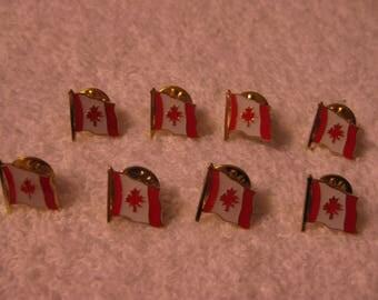 Eight Canada Flag Pins