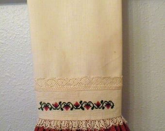 Cross Stitched Hand Towel