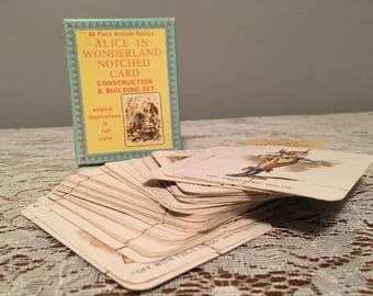 Vintage Alice In Wonderland Notched Card Kit
