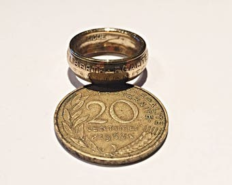 20 cents (corner ring) francs coin ring