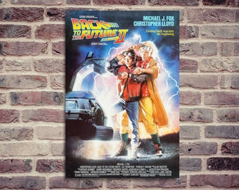 Back to the future movie poster. Michael J. Fox, Christopher Lloyd, Robert Zemeckis. Back to the future II