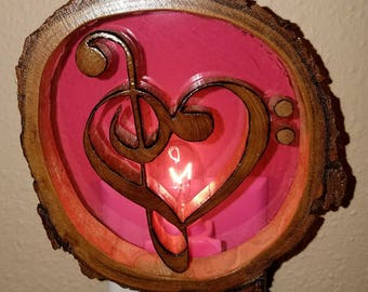 Musical symbol with heart nightlight