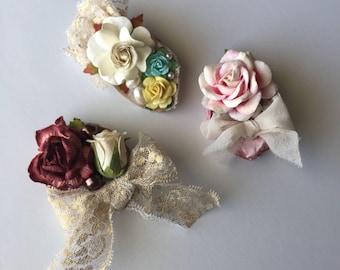 Floral clips for girls flower clips alligator clips