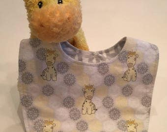 Royal Giraffe Baby Bib