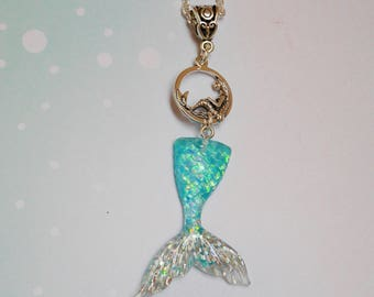 Mermaid necklace and her glittering tail