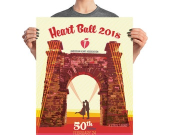 AHA Ohio Valley Heart Ball 2018 Promotional Poster