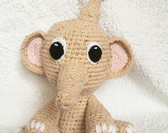 Playful Elephant - Handmade crochet toy