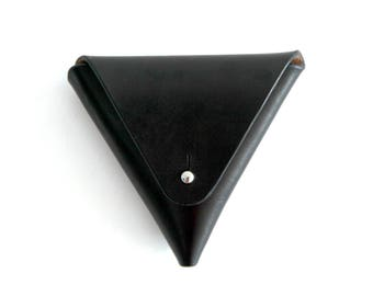 Leather Coin Triangle, Black