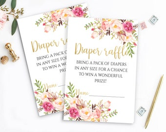 Printable Diaper Raffle Tickets Gold Diaper Raffle Baby Shower Diaper Raffle Shower Activities Baby Shower Printables Diaper Raffle Cards
