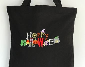Black trick or treat bag perfect size for little goblins