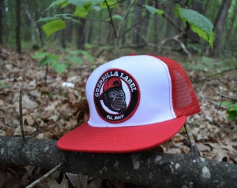Snapback Hat -Guerrilla Label -Red/White