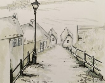Whitby Steps drawing