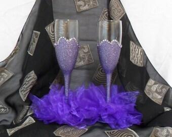 Glitter Glass Champagne Flutes