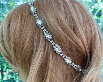 Wedding Halo Headpiece, Wedding Halo Headband, Wedding Crown Headpiece, Wedding Headpiece Circlet, Wedding Crystal Crown