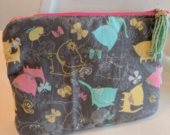 Pink Sunshine in my Pocket Insulated Pouch with Pocket,Diabetic Supply Bag, Children's Bag,Insulated Bag,Diabetes Bag,Girl Gift, Charitable