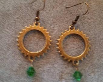 Steampunk 2 inch earrings