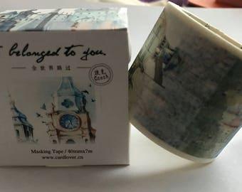 Travel Around the World Series Washi Tape, Masking Tape - CZECH