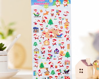 DIY Colorful Christmas Stickers Diary Planner Journal Note Diary Paper Scrapbooking Albums PhotoTag - Design 6