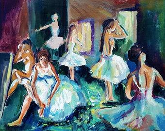 Ballerins - Print, original oil painting