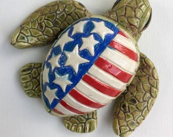Stars and Stripes Turtle Sculpture III