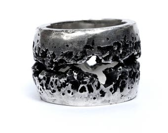 Ijen ring / handcrafted sterling black silver