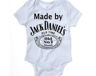 Made by Jack Daniels funny baby grow - baby clothes