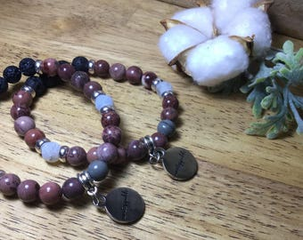 Essential Oil Stretch Bracelet with Unstoppable charm