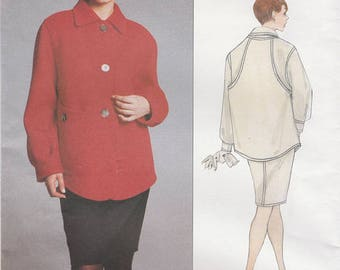 Designer Jacket and Skirt Pattern by Geoffrey Beene---Vogue 1848---Sizes 8-10-12  Bust:  31 1/2 thru 34  UNCUT