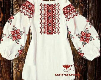 Vyshyvanka Ukrainian embroidery Embroidered top Ukrainian embroidered blouse White Beaded blouse Sorochka Handmade shirt Beaded Embroidery