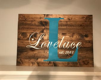 Large Family Wood Sign, Custom Wood Sign, Large Monogrammed Wood Sign, Personalized Wood Sign