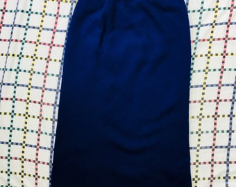 Vintage 90s United Colours Benetton Blue 100% New Wool Skirt Size 48 Italian Made