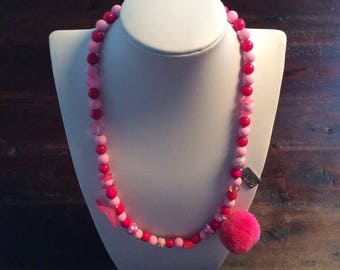 Necklace for girl with Pompom